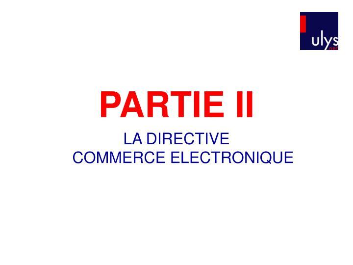 PARTIE II