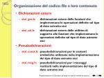 organizzazione del codice file e loro contenuto1