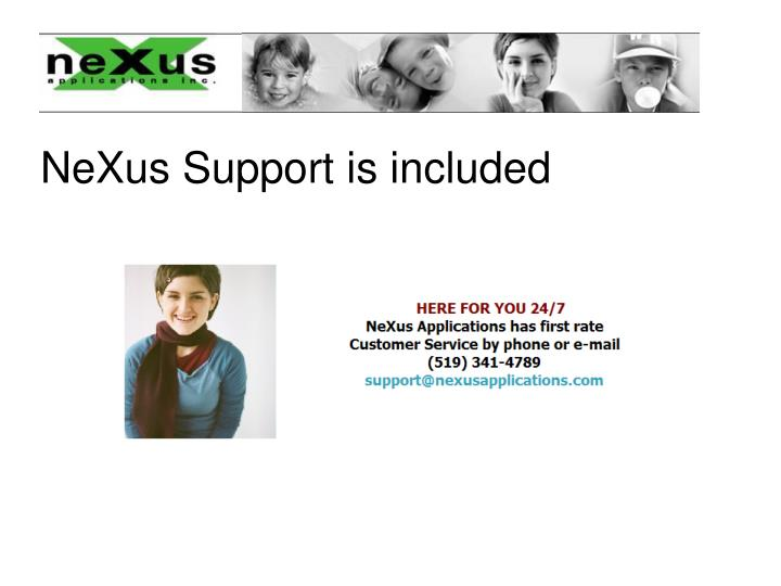 NeXus Support is included