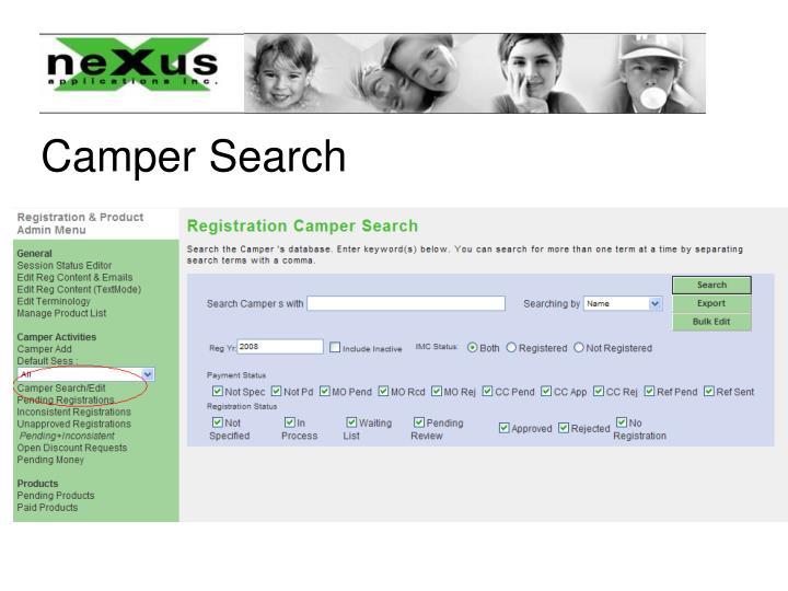 Camper Search