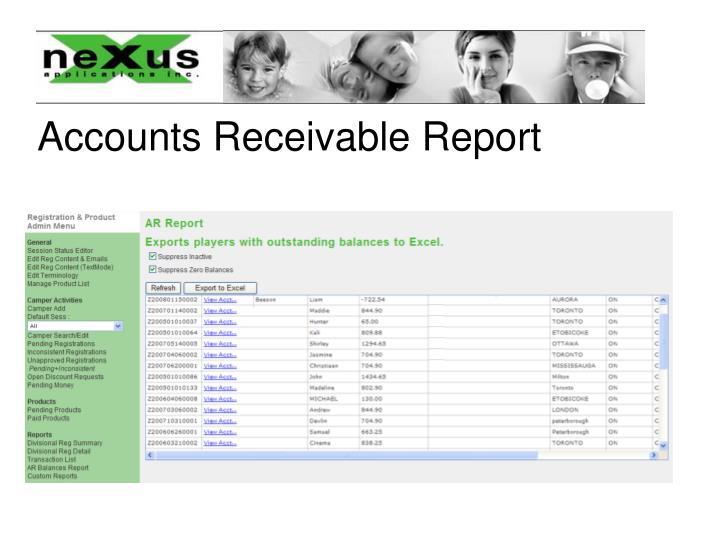 Accounts Receivable Report