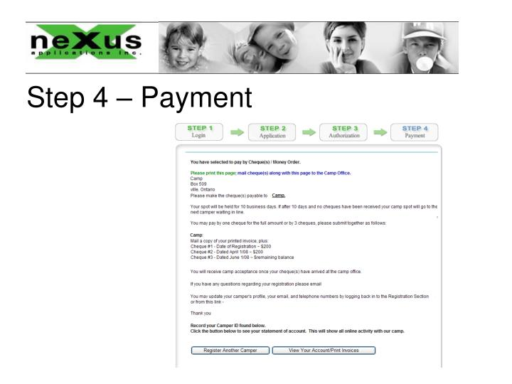 Step 4 – Payment
