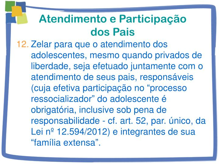 Atendimento e Participação