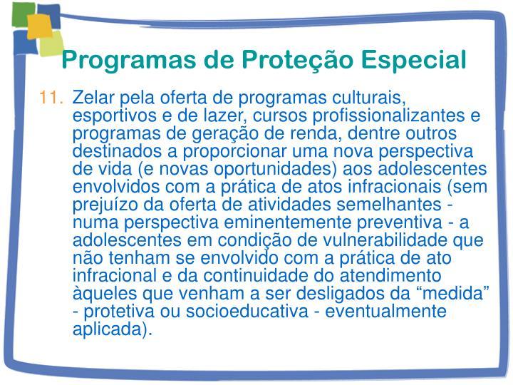 Programas de Proteção Especial