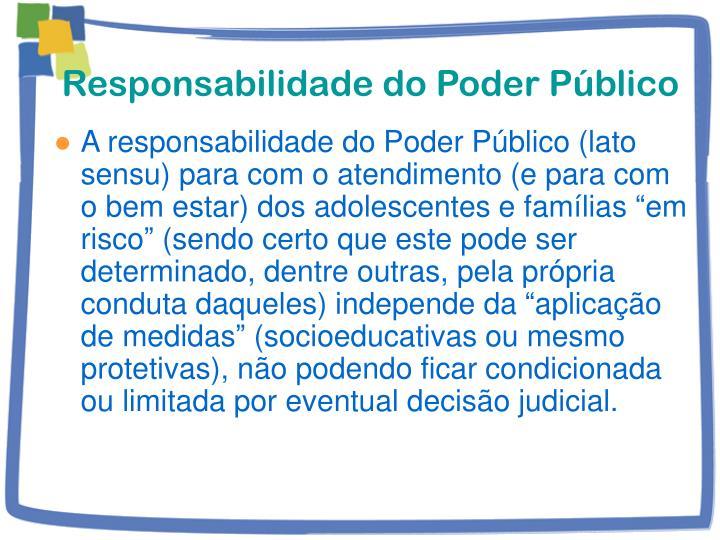 Responsabilidade do Poder Público