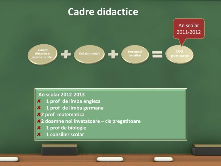 Cadre didactice