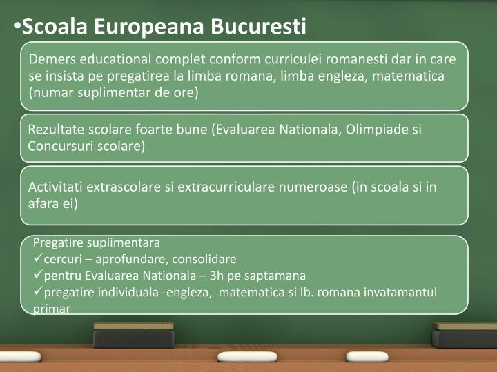 Scoala Europeana Bucuresti