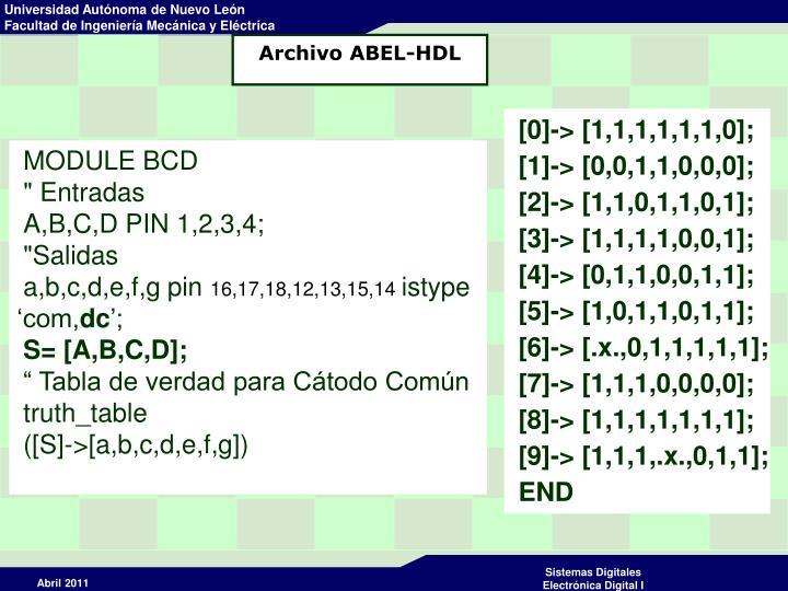 Archivo ABEL-HDL