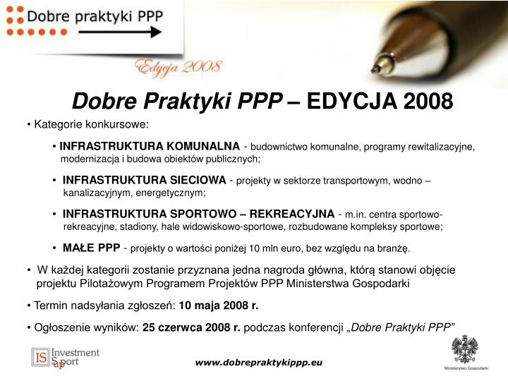 Dobre Praktyki PPP