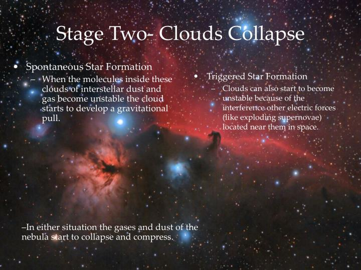 Stage two clouds collapse