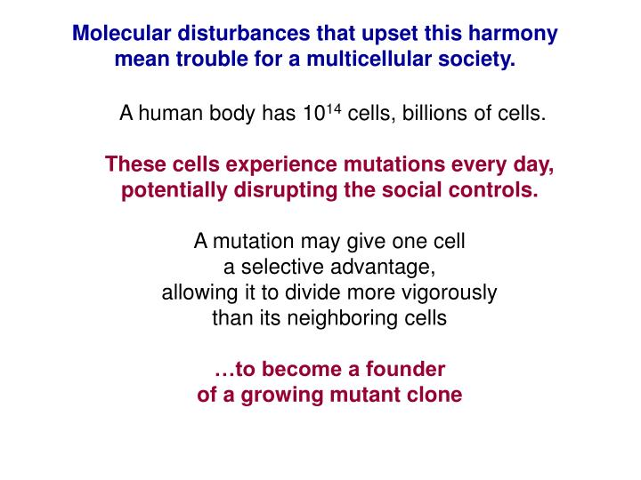 Molecular disturbances that upset this harmony