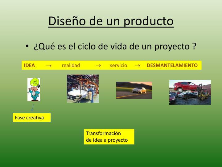 Diseño de un producto