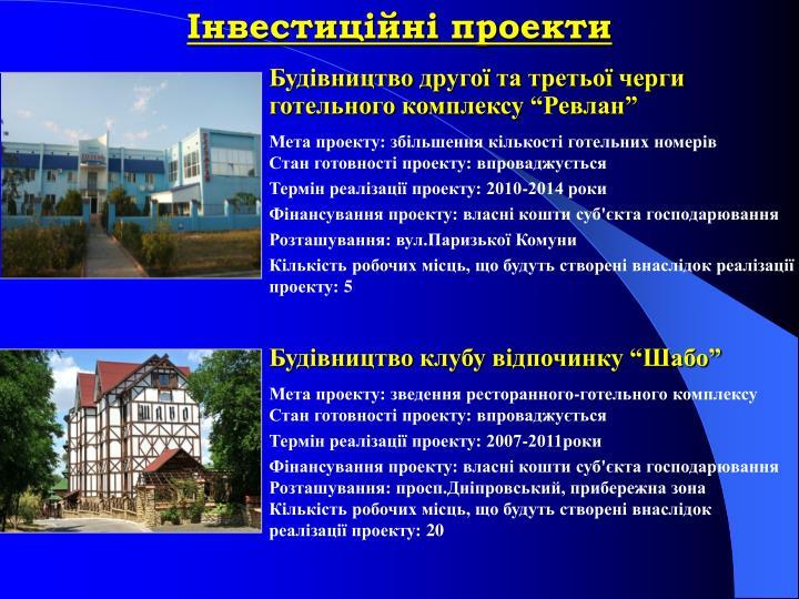 Інвестиційні проекти