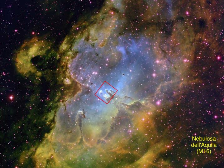 A zoom-in to a massive star forming region