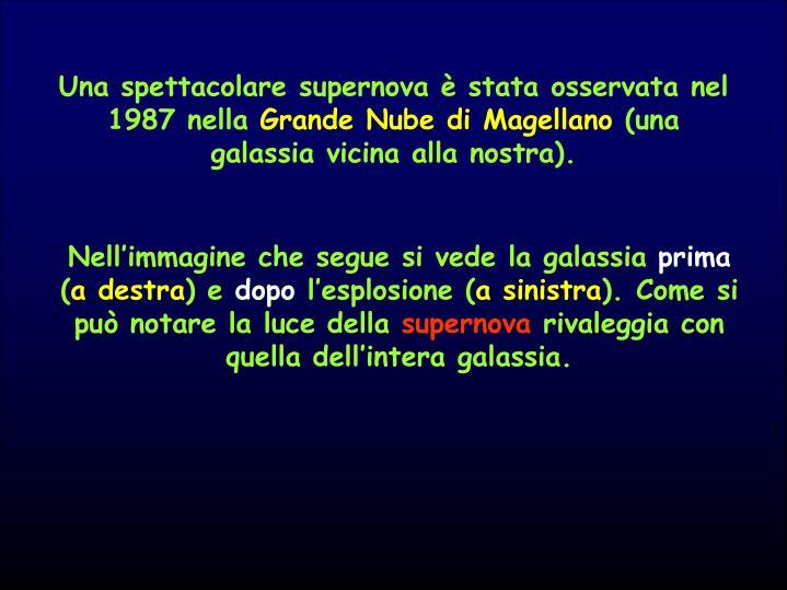 Una spettacolare supernova è stata osservata nel 1987 nella