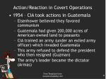 action reaction in covert operations1