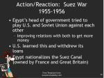 action reaction suez war 1955 1956