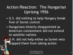 action reaction the hungarian uprising 19562