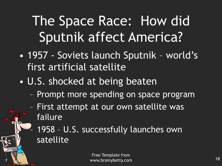 The Space Race:  How did Sputnik affect America?