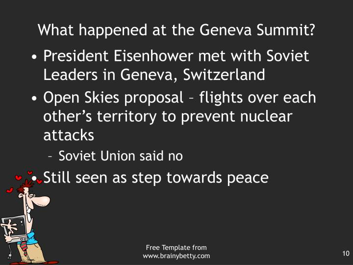 What happened at the Geneva Summit?