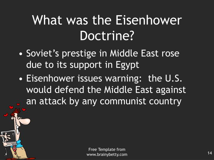 What was the Eisenhower Doctrine?