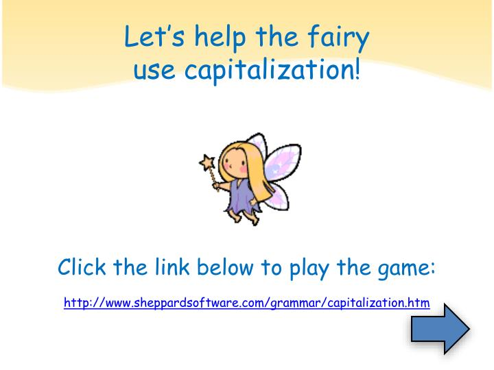 Let's help the fairy