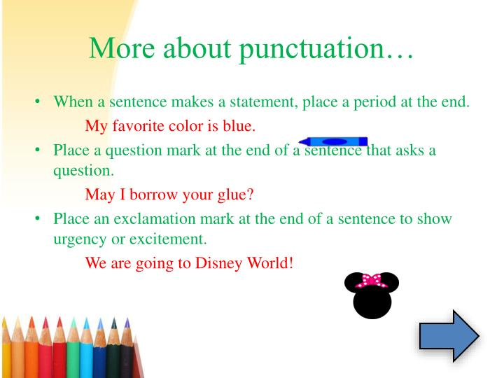 More about punctuation…