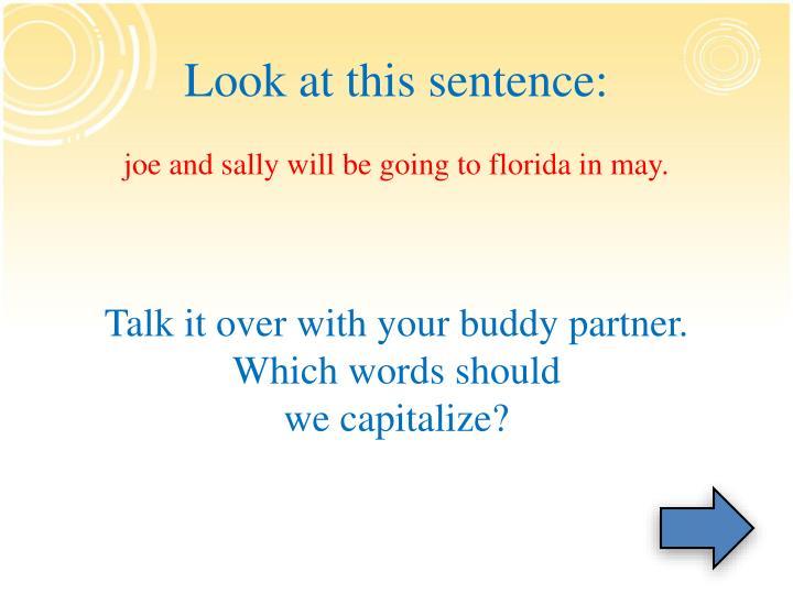 Look at this sentence: