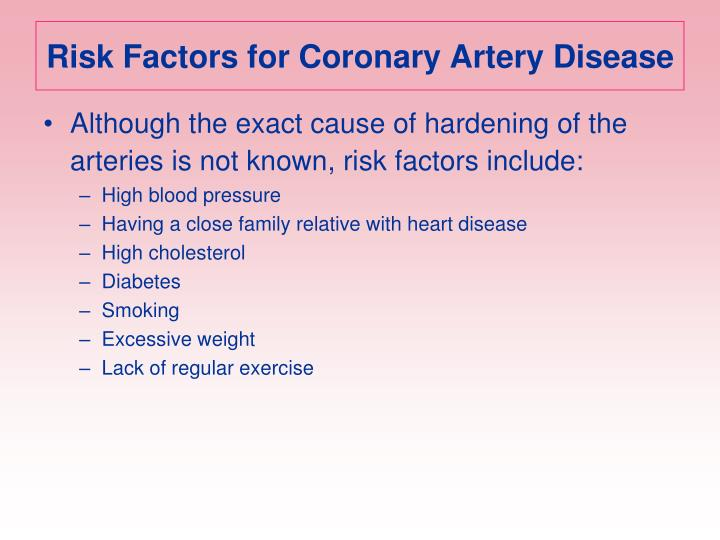 Risk Factors for Coronary Artery Disease