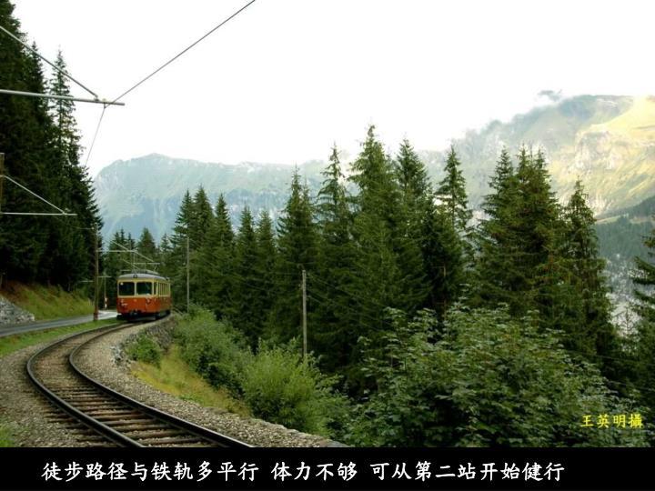 徒步路径与铁轨多平行 体力不够 可从第二站开始健行