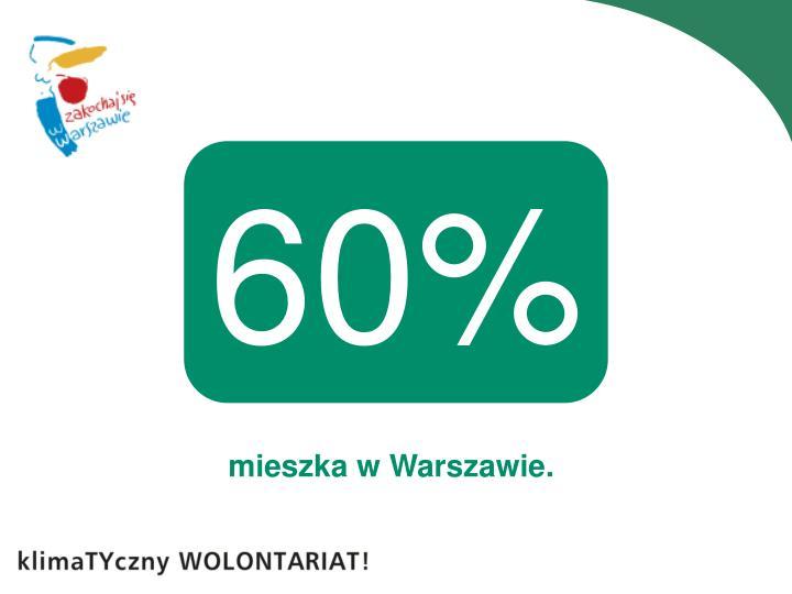 mieszka w Warszawie.