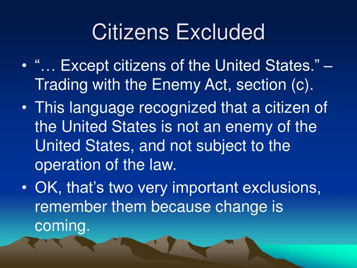 Citizens Excluded