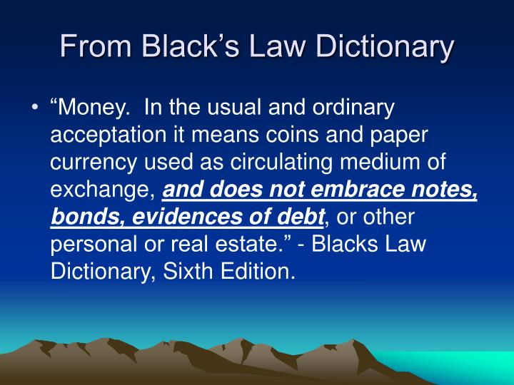 From Black's Law Dictionary