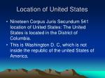 location of united states