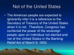 not of the united states