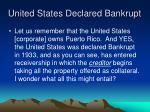 united states declared bankrupt