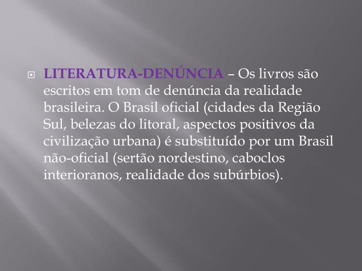 LITERATURA-DENÚNCIA