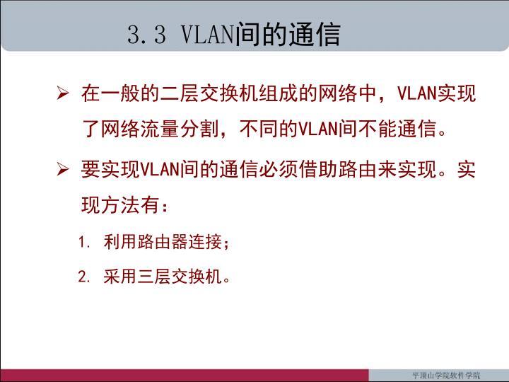3.3 VLAN