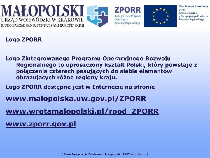 Logo ZPORR