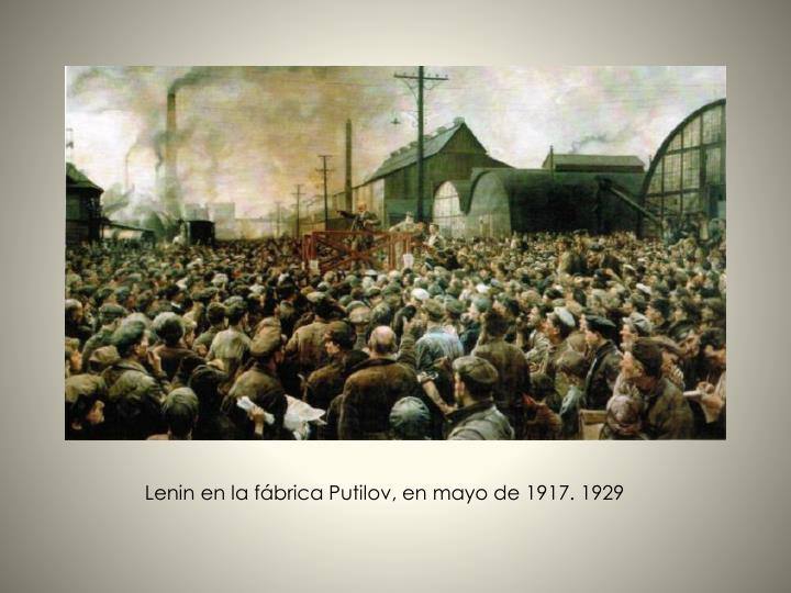 Lenin en la fábrica