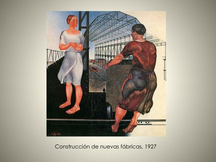 Construcción de nuevas fábricas, 1927