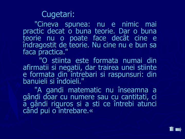 Cugetari: