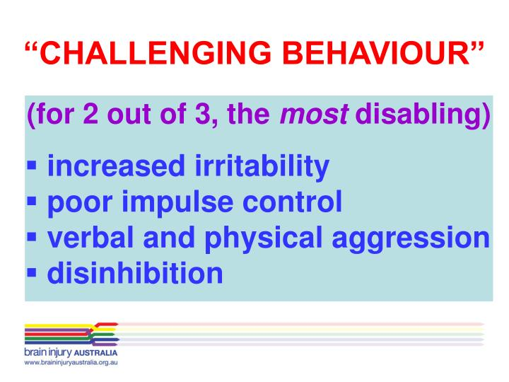 """CHALLENGING BEHAVIOUR"""