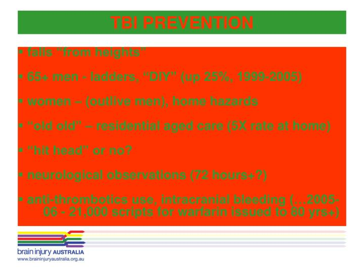 TBI PREVENTION