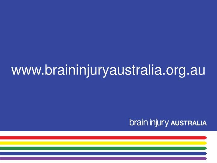www.braininjuryaustralia.org.au