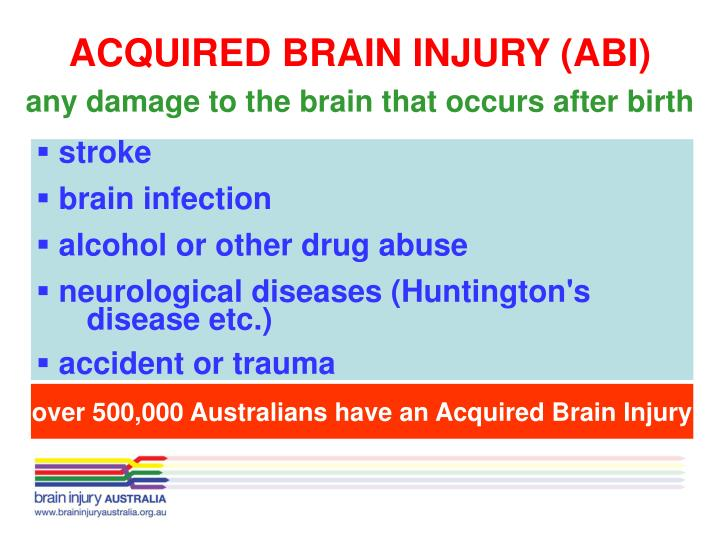 ACQUIRED BRAIN INJURY (ABI)