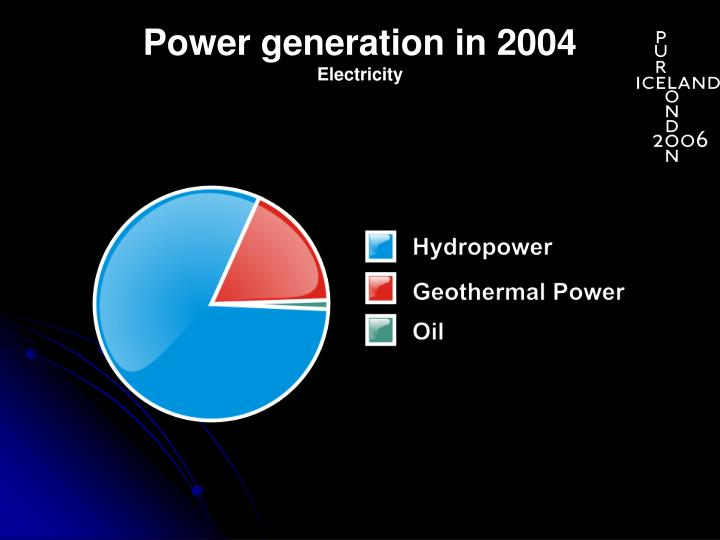 Power generation in 2004