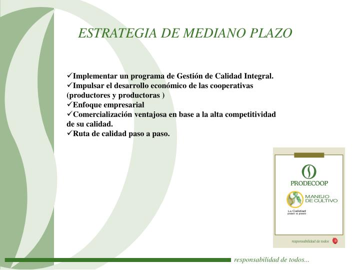 ESTRATEGIA DE MEDIANO PLAZO