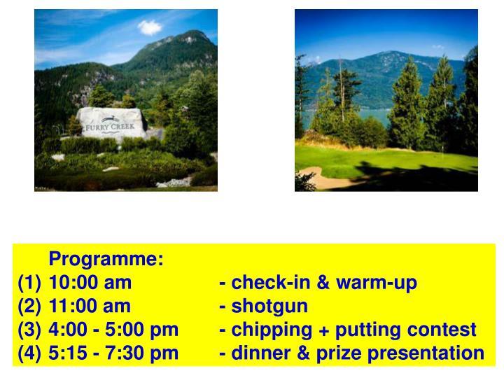 Programme: