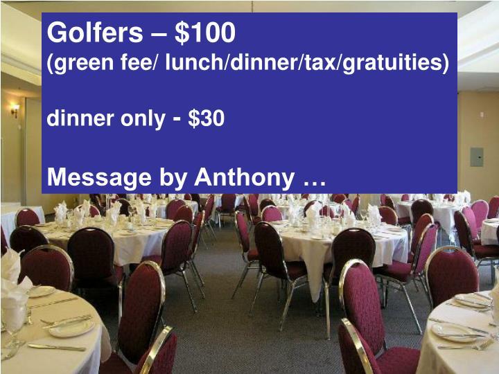 Golfers – $100